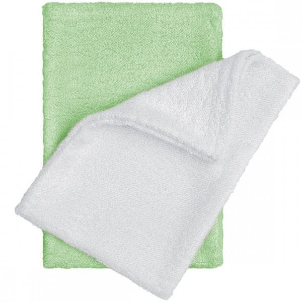 T-tomi Bambusové žínky rukavice, bílá/zelená