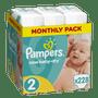 1 - Pampers Pleny Active New Baby 2 Mini (3-6kg) Měsíční balení - 228 ks