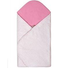 T-tomi otroška vreča, bela z roza drobnimi pikami