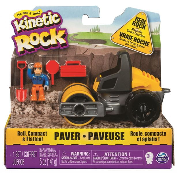 Kinetic Sand Kinetic Rock válec s figurkou a doplňky 141 g