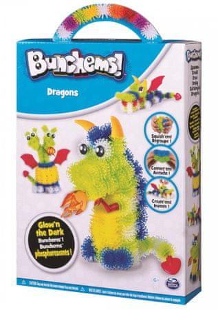 Spin Master Bunchems fosforeskující sada - draci
