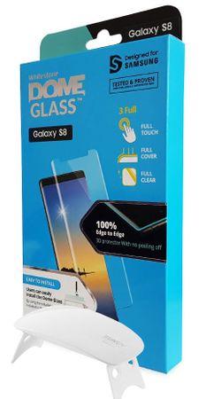 Whitestone zaščitno steklo Dome Glass za Samsung Galaxy S8 z UV svetilko