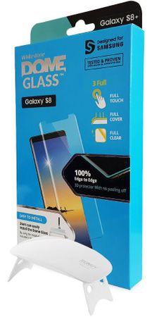 Whitestone zaščitno steklo Dome Glass za Samsung Galaxy S8 Plus z UV svetilko
