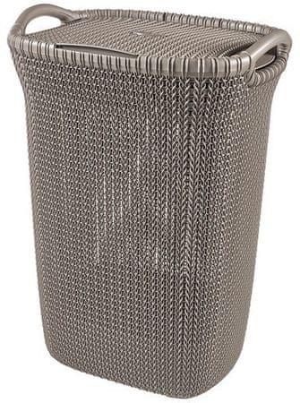 CURVER Kosz na pranie Knit 57 l, brązowy