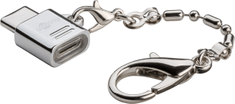 Goobay adapter USB-C/microUSB, srebrn