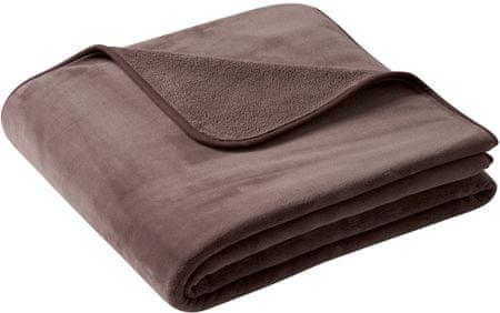 Biederlack odeja Pure Soft, 180 x 220 cm, rjava