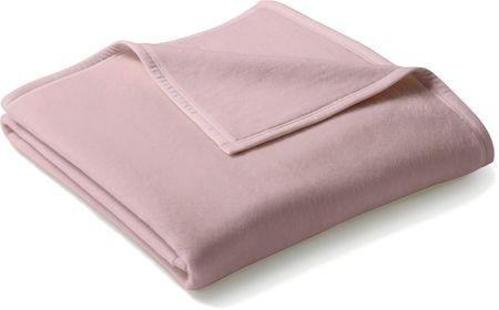 Biederlack koc Uno Cotton 150x200 cm, różowy
