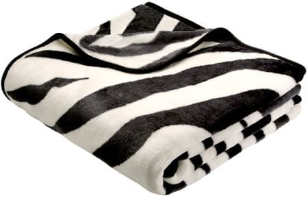 Biederlack odeja De Luxe 150 x 200 cm, zebra