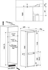 Whirlpool vestavná lednička SP40 801 EU 1