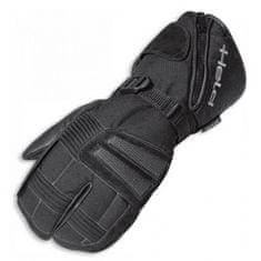 Held motocyklové rukavice 2 x 2 prsty  NORDPOL černé, textil/kůže (pár)