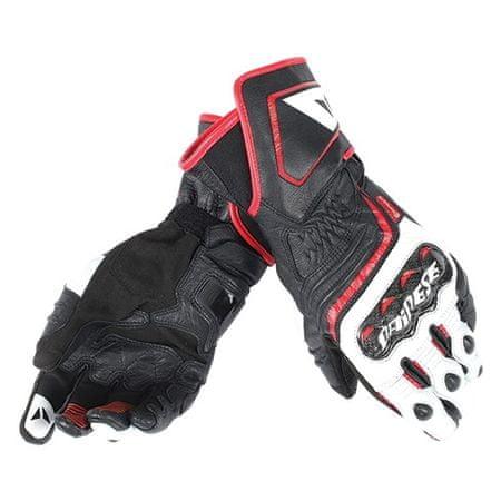 Dainese rukavice CARBON D1 LONG vel.M černá/bílá/červená (láva), kůže (pár)