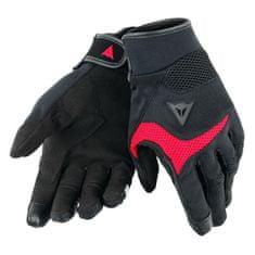 Dainese skútr rukavice  DESERT POON D1 UNISEX černá/červená, textil (pár)