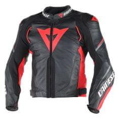 Dainese pánska kožená moto bunda  SUPER SPEED D1 čierna/červená/antracitová