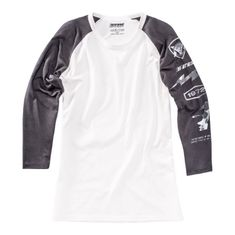 Dainese pánské triko s 3/4 rukávem  THUNDER72 černá/bílá