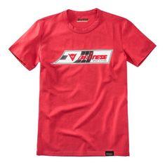 Dainese pánské triko s krátkým rukávem  SPEED-LEATHER červená