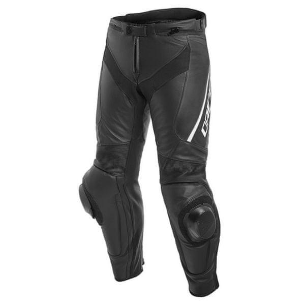 Dainese kalhoty DELTA 3 vel.50 černá/bílá, kůže