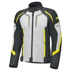 Held pánska motocyklová bunda  SMOKE sivá/fluo-žltá/čierna, textil