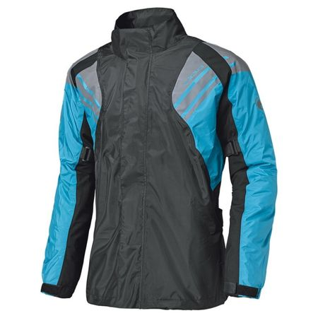 Held nepremokavá bunda  HAZE čierna/modrá
