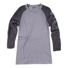 Dainese pánské triko s 3/4 rukávem  THUNDER72 šedá/černá