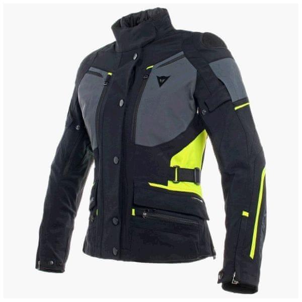 Dainese bunda dámská CARVE MASTER 2 GORE-TEX LADY vel.46 černá/šedá/fluo-žlutá