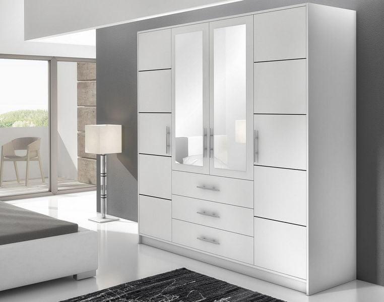 BALI D4 šatní skříň, bílá