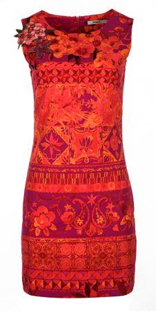 Desigual ženska obleka Angelina 38 rdeča