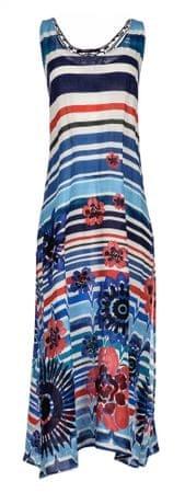 Desigual női kék ruha Flora M-es méretben