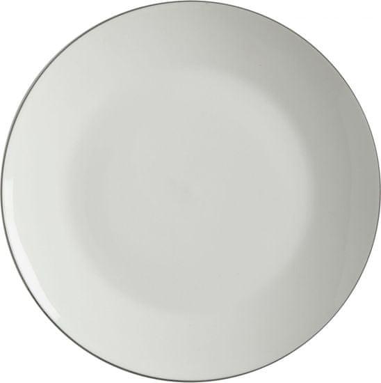 Maxwell & Williams Dezertní talíř 19 cm White Basic Edge, 4 ks