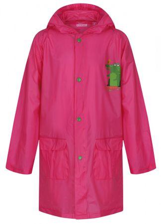 Loap dziewczęcy płaszcz przeciwdeszczowy Xantos 152 różowy
