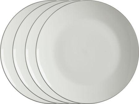 Maxwell & Williams Mělký talíř 27,5 cm White Basics Edge, 4 ks