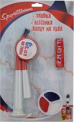 Sport team Sada Fun ČR - trubka + klíčenka + barvy na tvář