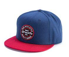 MEATFLY moška kapa s šiltom Comp, modra/rdeča