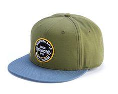 MEATFLY moška kapa s šiltom Comp, zelena/modra