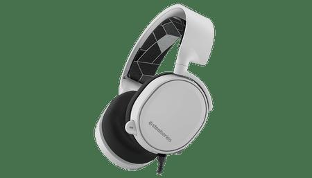 SteelSeries gaming slušalke Arctis 3, bele