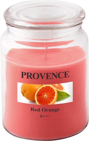 Toro Svíčka ve skle s víčkem - červený pomeranč 510 g