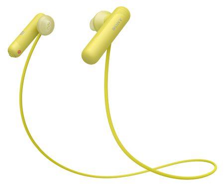 SONY słuchawki sportowe WI-SP500, żółte