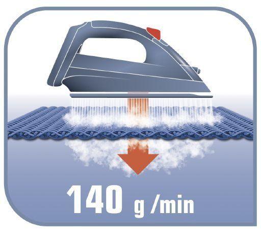 Napařovací žehlička Tefal FV3962E0 Easygliss parní ráz 140 g/min