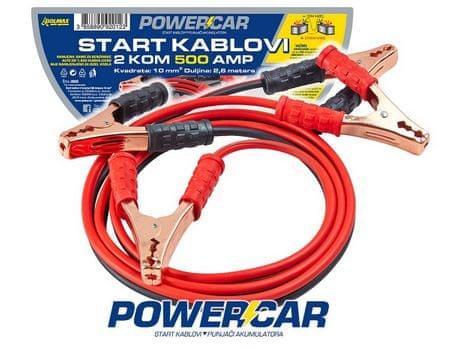 PoweCar vžigalni kabli 500 A, 2,6 m
