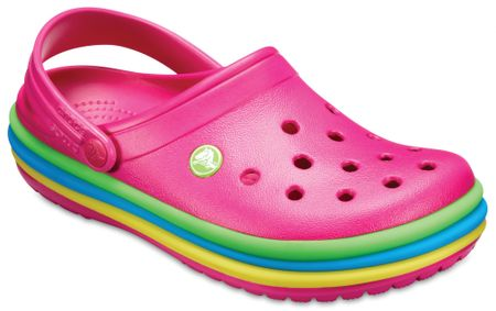 Crocs natikači CB Rainbow Clog Candy Pink, 39,5