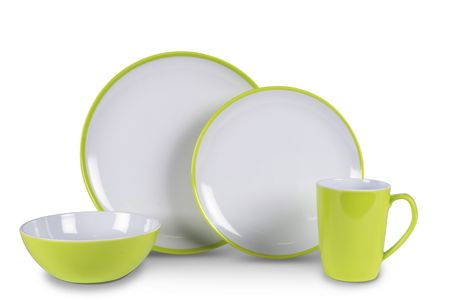 Kampa jedilni set za 4 osebe Summer Citrus Green