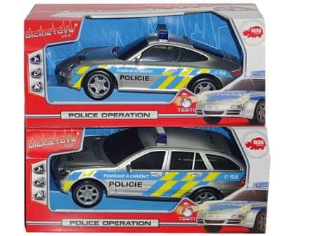 DICKIE Policajné auto 1:18, hovoriace česky - Porsche