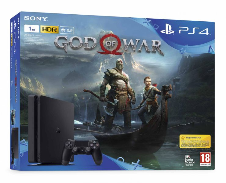 Sony PlayStation 4 Slim - 1TB + God of War