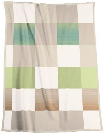 Biederlack koc Soft Impression Ombré Check Acacia 150x200 cm