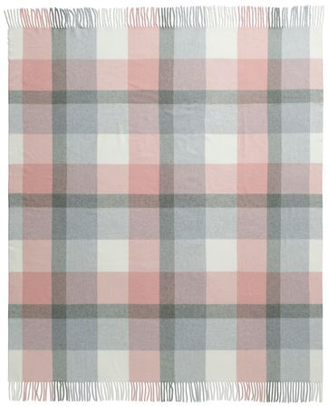 Biederlack pled Soft Impression 130x170 cm, różowy/szary