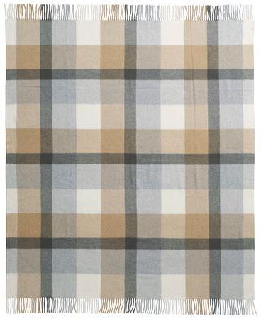 Biederlack pled Soft Impression 130x170 cm, brązowy/szary