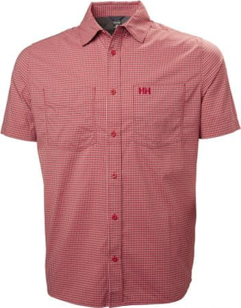Helly Hansen koszula męska Domar SS Shirt, Red Micro Check XL