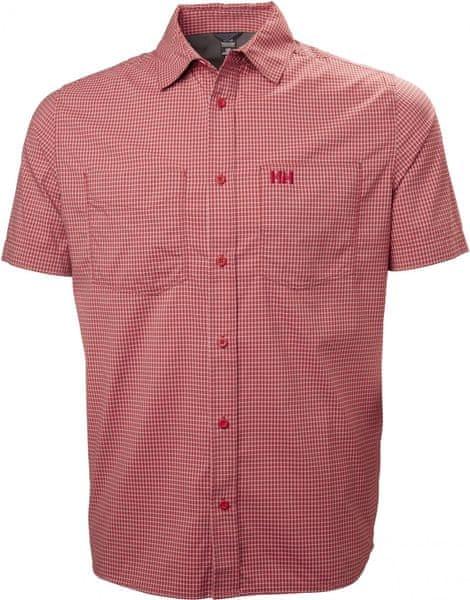 Helly Hansen Domar SS Shirt Red Micro Check M