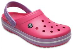 Crocs natikači Crocband Chambray Pink/Iris, roza/vijolčna