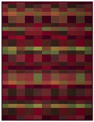 Biederlack Koc Warm Shades Shading Red  150x200 cm