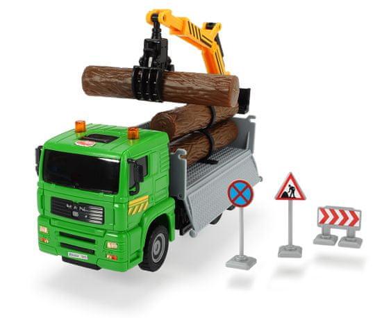DICKIE Auto Truck Heavy City teherautó 22 cm, zöld